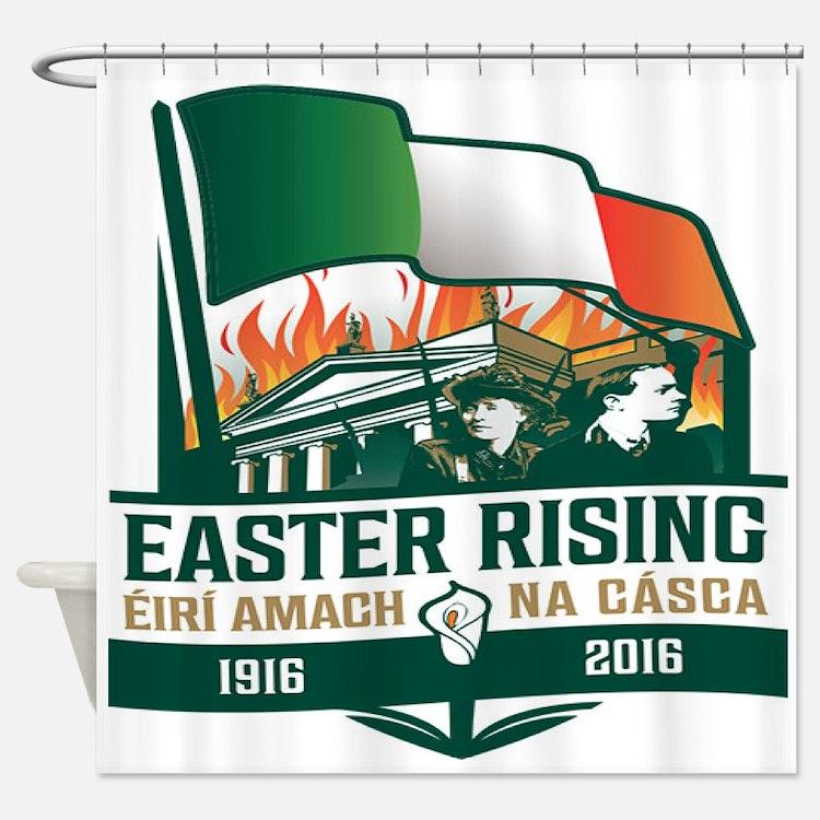Easter Rising (Gaelic) Shower Curtain