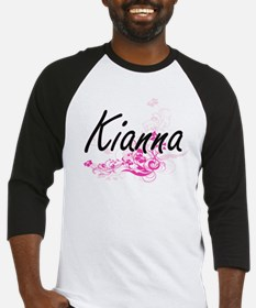 Kianna Artistic Name Design with F Baseball Jersey