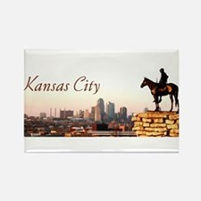 Funny Kansas city Rectangle Magnet