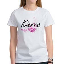 Kierra Artistic Name Design with Flowers T-Shirt