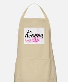 Kierra Artistic Name Design with Flowers Apron