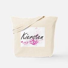 Kiersten Artistic Name Design with Flower Tote Bag