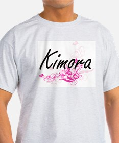 Kimora Artistic Name Design with Flowers T-Shirt