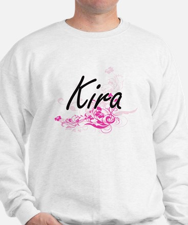 Kira Artistic Name Design with Flowers Jumper