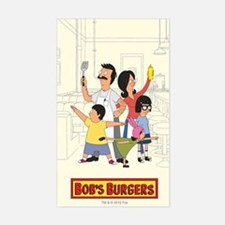 Bob's Burger Hero Family Sticker (Rectangle)