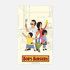Bob's Burger Hero Family Sticker (Rectangle)