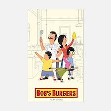 Bob's Burger Hero Family Stickers