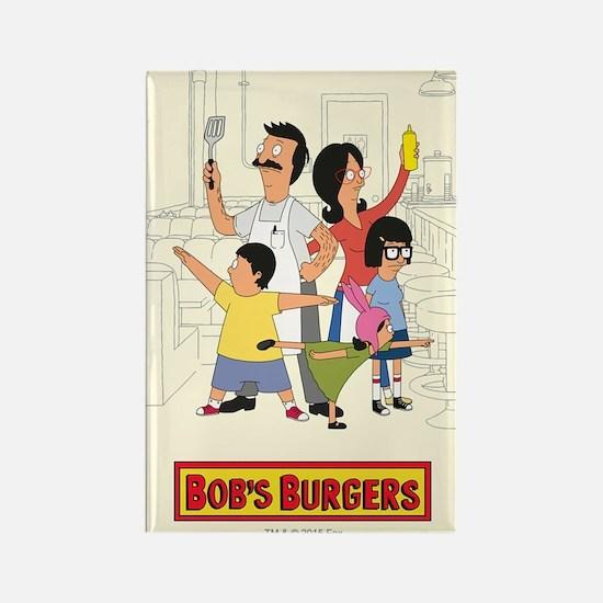 Bob's Burger Hero Family Rectangle Magnet