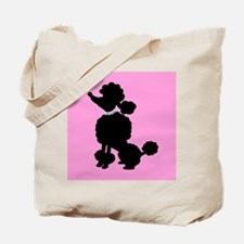 Pink and Black French Poodle Tote Bag