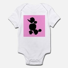 Pink and Black French Poodle Body Suit