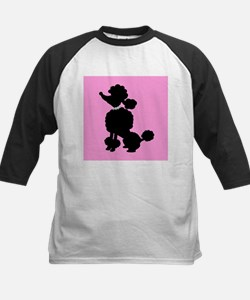 Pink and Black French Poodle Baseball Jersey
