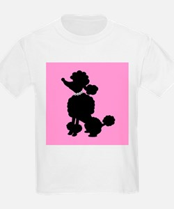 Pink and Black French Poodle T-Shirt