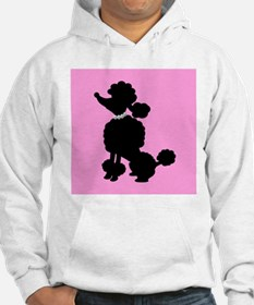 Pink and Black French Poodle Hoodie