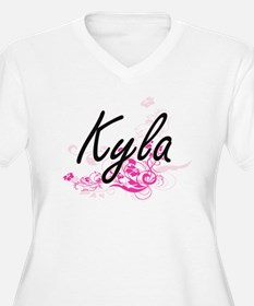 Kyla Artistic Name Design with F Plus Size T-Shirt