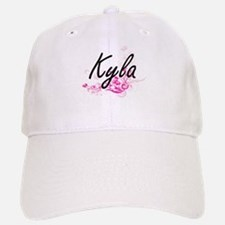 Kyla Artistic Name Design with Flowers Baseball Baseball Cap