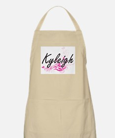 Kyleigh Artistic Name Design with Flowers Apron