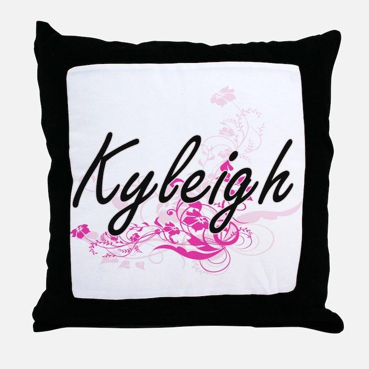 Kyleigh Artistic Name Design with Flo Throw Pillow