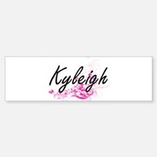 Kyleigh Artistic Name Design with F Bumper Bumper Bumper Sticker