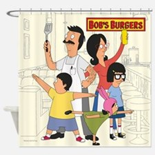 Bob's Burger Hero Family Shower Curtain