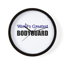 Worlds Greatest BODYGUARD Wall Clock