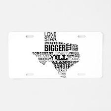 Texas Proud Aluminum License Plate