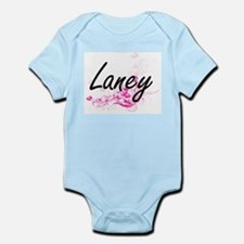 Laney Artistic Name Design with Flowers Body Suit