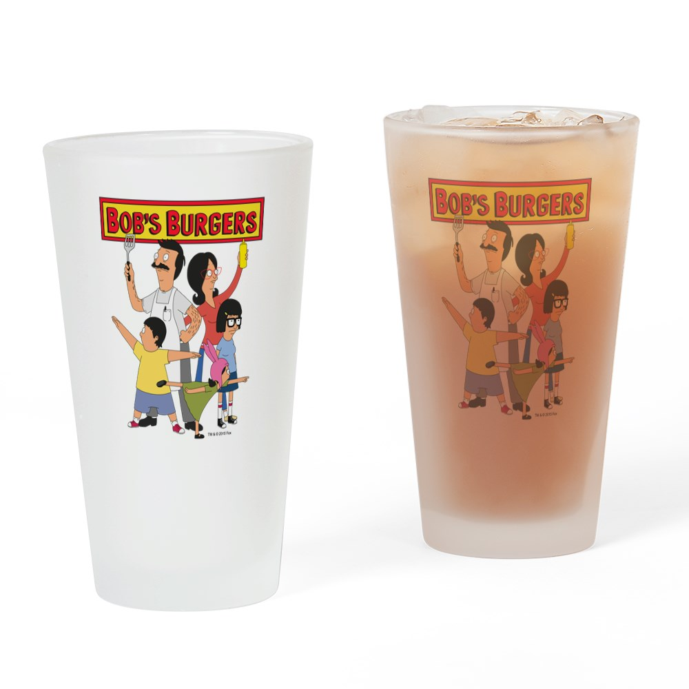 CafePress Bob's Burger Hero Family Drinking Glass