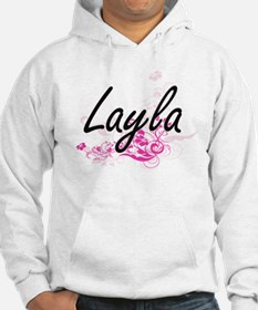 Layla Artistic Name Design with Hoodie