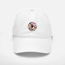 Jacobean Embroidery Flowers Baseball Baseball Cap