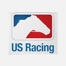 US Racing - Horse Head Slogan, Light Background Th
