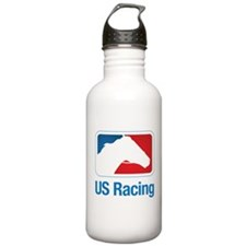 US Racing - Horse Head Slogan, Light Background Wa