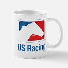 US Racing - Horse Head Slogan, Light Background Mu