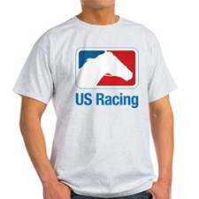 US Racing - Horse Head Slogan, Light Background T-