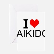 I Love Aikido Greeting Cards