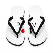 I Love Aikido Flip Flops