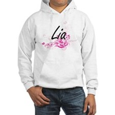 Lia Artistic Name Design with Fl Jumper Hoody