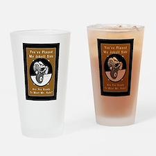 Jekyll Hyde 8 Ball Billiards Drinking Glass