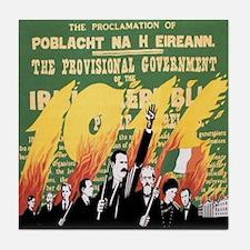 Easter Rising Proclamation Tile Coaster