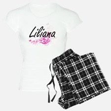 Liliana Artistic Name Desig Pajamas