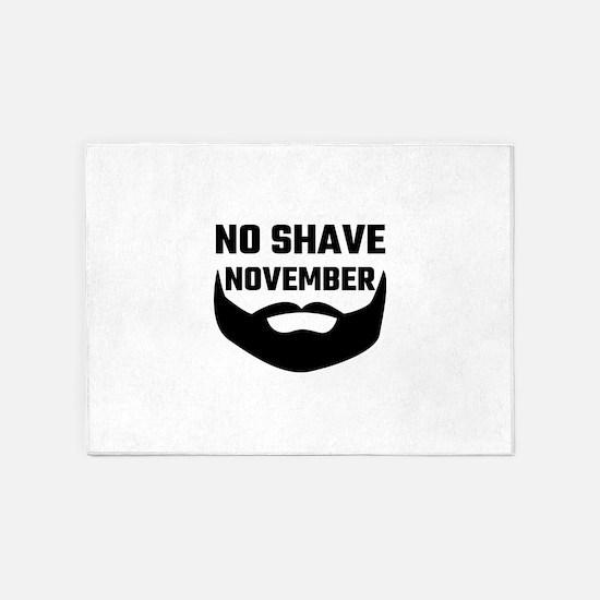 No Shave November 5'x7'Area Rug