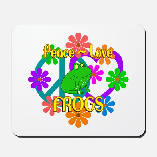 Peace Love Frogs Mousepad
