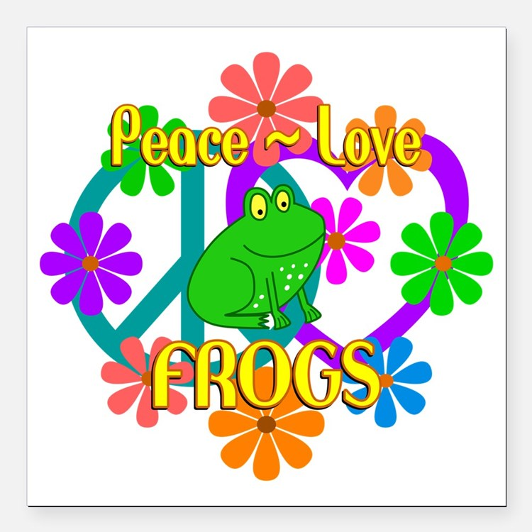 Peace frog car magnets personalized peace frog magnetic signs for