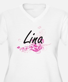 Lina Artistic Name Design with F Plus Size T-Shirt