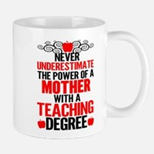 Never Underestimate The Power Of A Mother Wit Mugs