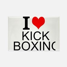 I Love Kick Boxing Magnets