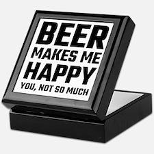 Beer Makes Me Happy Keepsake Box