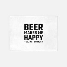 Beer Makes Me Happy 5'x7'Area Rug