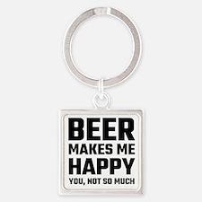 Beer Makes Me Happy Keychains
