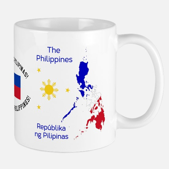 Philippines Map Illustration Mugs