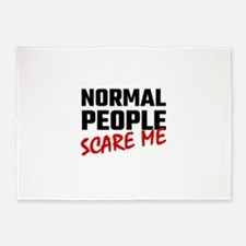 Normal People Scare Me 5'x7'Area Rug